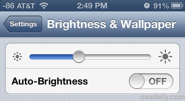 Adjusting the brightness of your phone screen can dramatically improve the battery life.